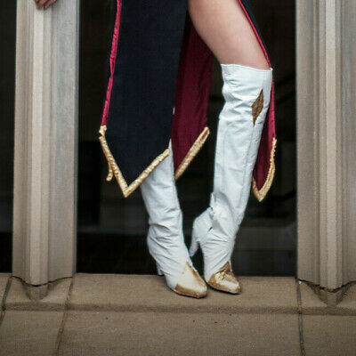 CC White Code Geass Cosplay Heeled Boots PreOwned