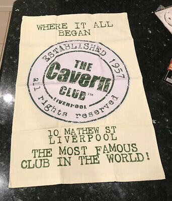 """The Cavern Club Liverpool 1957 Canvas Hanging Banner 18 3/4""""x 29"""" New"""