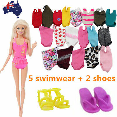 Barbie Clothes Accessories Swimwear Swimming Suits Shoes Sandal Beach Outfits