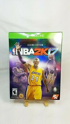 NBA 2k17 Legend Edition for Xbox One- Kobe Bryant on cover- Brand New SEALED