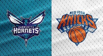 NEW YORK KNICKS vs CHARLOTTE HORNETS 2 TIX 3/17 MSG BELOW FACE AISLE SEATS