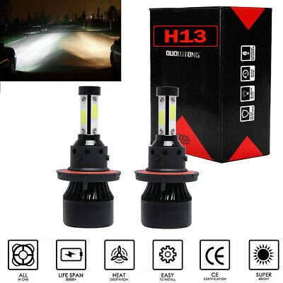 4 Sides H13 9008 LED Headlight Bulbs High Low For Ram 1500 2500 3500 09-2012 XE