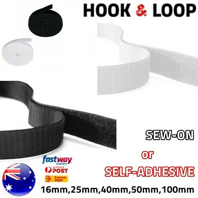 HOOK and LOOP Fastener Tape Self Adhesive / Sew On Fastening Sticky Tapes AUS
