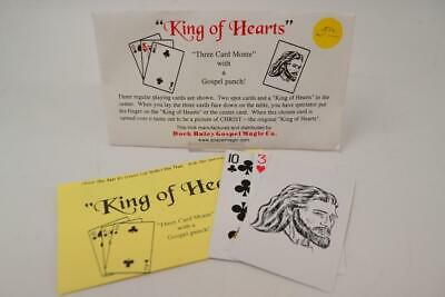 King of Hearts Three Card Monte with Gospel Punch Magic Trick - #YB-02-015