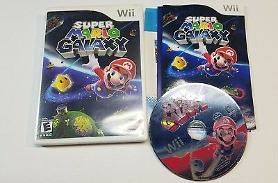 Super Mario Galaxy (Nintendo Wii Game) Complete w/ Manual & Case * FAST SHIPPING