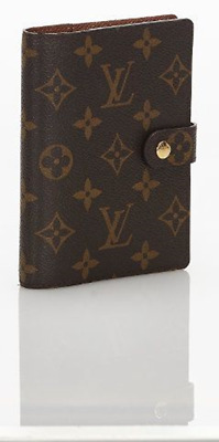 Louis Vuitton Agenda Notebook Cover Case MM R20105 PVC Used Ex++