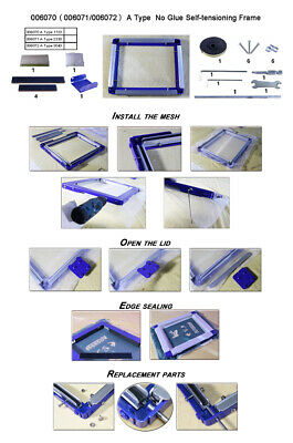 TECHTONGDA Screen Printing Self-tension Frame Manual Stretcher Recyclable Tool