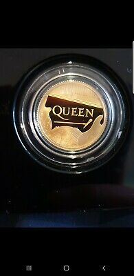Queen Band 2020 Royal Mint Gold Proof 1/4oz Coin Music Legends Sold Out RARE 1/2
