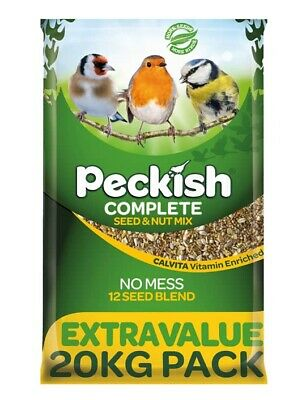 Peckish Complete Seed and Nut No Mess All Season Wild Bird Food 20kg