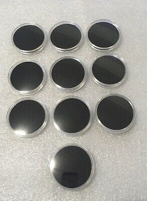 100 X 38mm 50p Coin Capsules With Foam Insert High Quality Plastic Uk Seller
