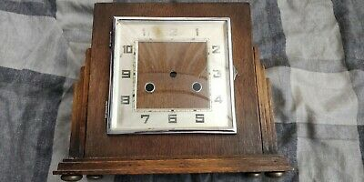 Vintage Antique Old Mantel Clock Body Wooden Deco Spare and repairs