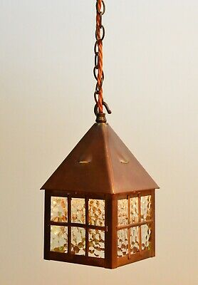 Antique Arts And Crafts Hall / Porch Lantern / Light From 1900's (restored)