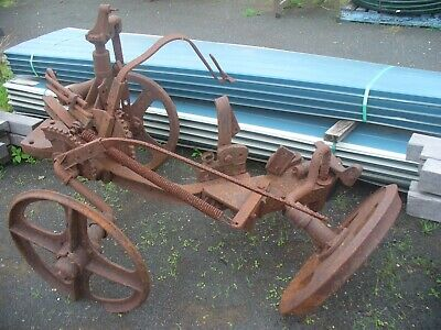 very old horse drawn plough great as a garden feature very rare item