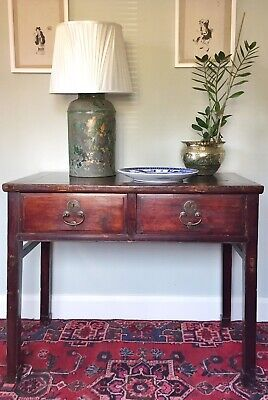 Stunning Antique Chinese Calligraphy Side Table Altar Desk Qing Dynasty Oriental