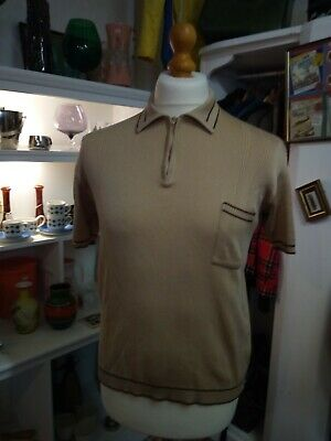60s Vintage polo top-short sleeves-Unique-Modstyle-Northern Soul-Skinhead
