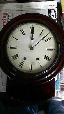 Large Station Clock Spares Or Repairs  Good Condition No Pendulum