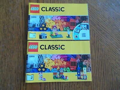 Lego Classic Large Creative Brick Box 10698 INSTRUCTION MANUALS ONLY (2 Books)