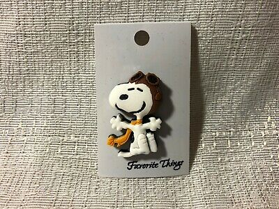 Peanuts Charlie Brown Flying Ace Smiling Snoopy Favorite Things PVC Lapel Pin