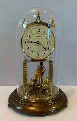 VTG Kundo Anniversary Clock Brass German Movement For Repair or Parts Germany