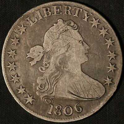 1806 United States Draped Bust 50c Half Dollar - Free Shipping USA