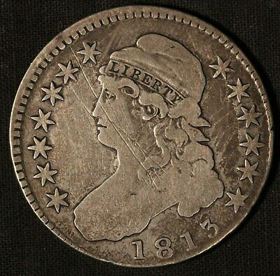 1813 United States Capped Bust 50c Half Dollar - Free Shipping USA