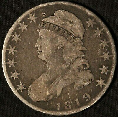 1819 United States Capped Bust 50c Half Dollar - Free Shipping USA