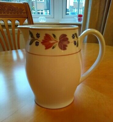 Adams 'Old Colonial' floral pattern jug - vintage - EXCELLENT BRIGHT CONDITION