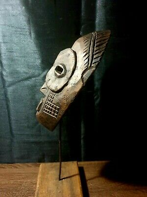 Mask African Carved Wood Tribal Wall Hand Vintage Art Wooden BIG mask 1232