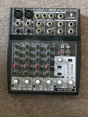 Behringer XENYX Q802USB 8-input 2-bus Mixer, Comes With Power Supply