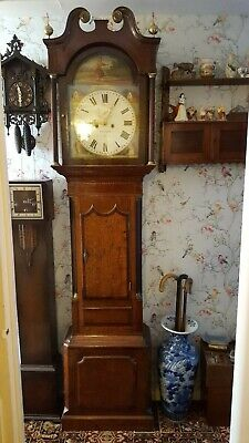grandfather long case clock, please read description for limited delivery