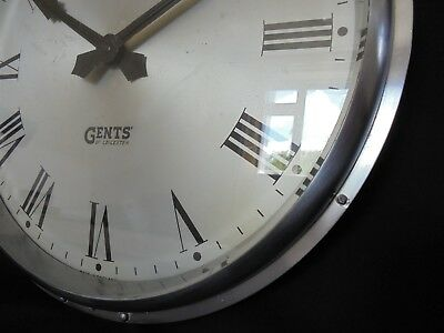 Gents Of Leicester Industrial Cast Aluminium Wall Clock 13""