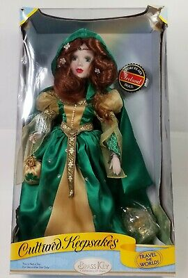 Brass Key Cultured Keepsakes 25th Anniversary Porcelain Doll Ireland Collectible