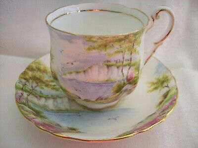 Paragon CUP & SAUCER -CLIFFS OF DOVER - Cup is marked Double Warrant
