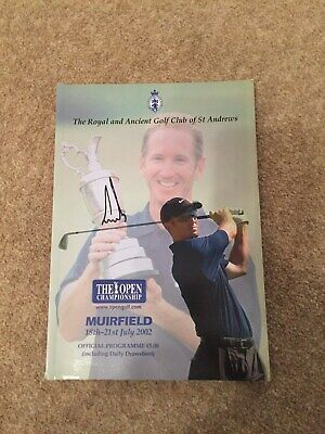 Hand Signed golf 2002 british open programme by Ernie Els excellent condition