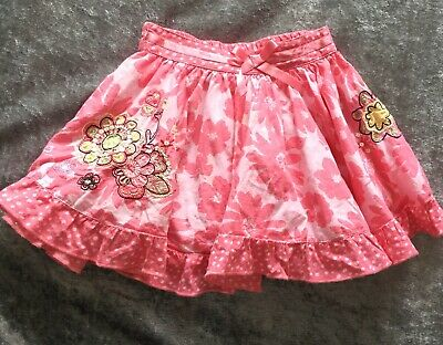 Marks & Spencer Autograph Girl Age 12 To 18 Months Pink Floral Skirt