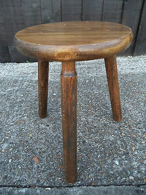 Antique Collectable Milking Chair / Stool - Beech