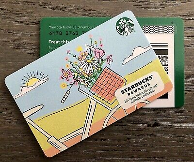 Starbucks 2020 SPRING FLOWERS BICYCLE 💐🚲 Print Marker GIFT CARD