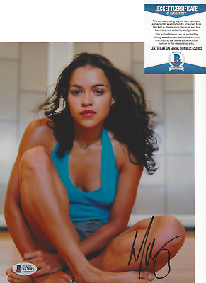 MICHELLE RODRIGUEZ SIGNED 'FAST AND THE FURIOUS' 8x10 PHOTO 7 BECKETT BAS COA