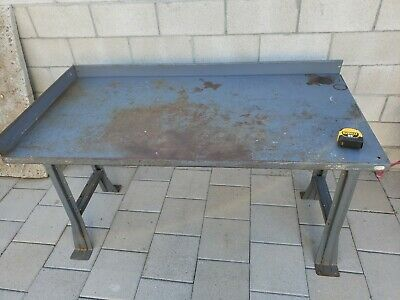 "Vintage Industrial Steel Work table 60"" x 30"" Heavy Duty Work bench Metal Shop"