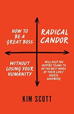 RADICAL CANDOR: HOW TO GET WHAT YOU WANT BY SAYING WHAT By Kim Scott