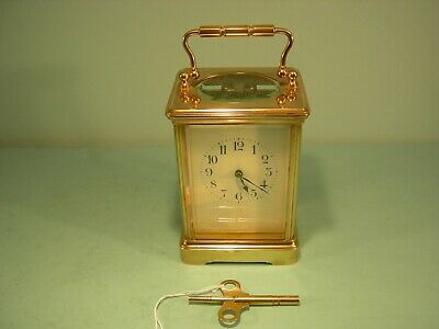 Antique H&H French Carriage Clock 8-Day Time Piece Serviced Tested & Running