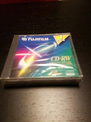 FujiFilm 3-Pack of 74-Minute • 650 MB CD-RW Compact Discs ~ Brand New & Sealed