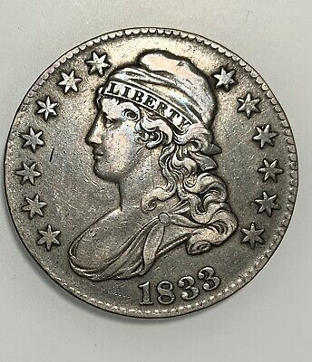 1833 Capped Bust Half Dollar VF Very Fine