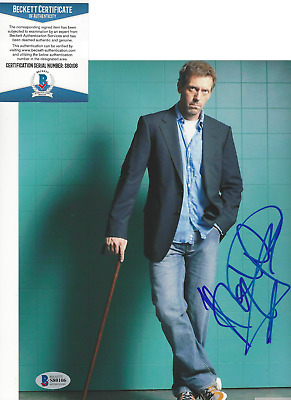 HUGH LAURIE SIGNED AUTHENTIC 'HOUSE MD' 8x10 SHOW PHOTO E ACTOR BECKETT COA BAS