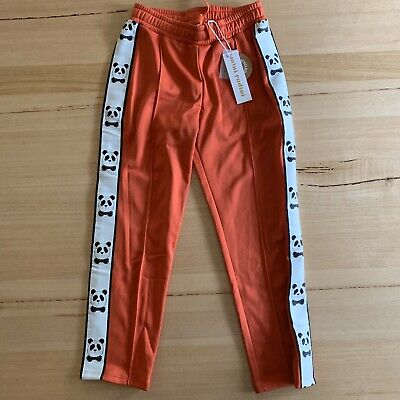 Mini Rodini panda red sweatpants size 7/9 BNWT RRP $89.95