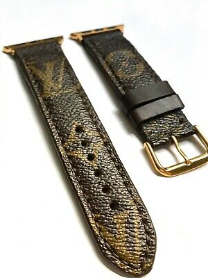 LV Apple Watch Band Strap Re-purposed Series1 2 3 38mm/40mm/42mm/44mm