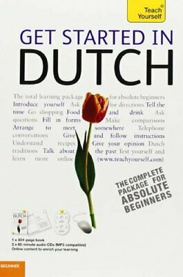 GET STARTED IN DUTCH WITH TWO AUDIO CDS: A TEACH YOURSELF By Dennis Strik *Mint*