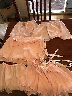 adult ballet skirt ...11x Pink Adult Ballet Skirts And Wraps..some New With tags