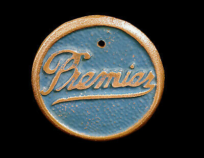 1905 1907 1908 1912 1910 1918 1906 Premier Car Emblem Badge Brass Era Antique