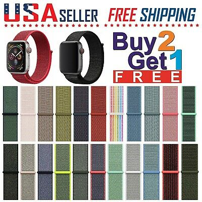 Woven Nylon Loop Band Strap Apple Watch Sports Series 5/4/3/2/1, 44/42/40/38mm